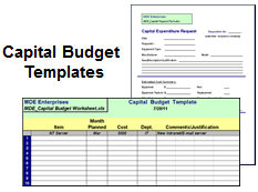 Capital Budget Templates